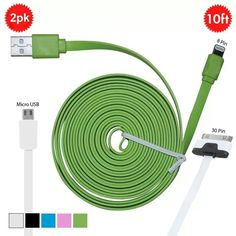 Two ten foot cables for $10 http://www.mobstub.com/m/main/view_deal/2pk-10-ft-charging-cables-iphone-5-4-cables