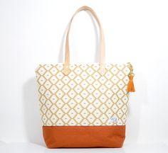 Nana handmade geometric + rust Pam tote by nanabysally on Etsy https://www.etsy.com/listing/267763180/nana-handmade-geometric-rust-pam-tote
