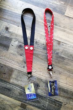 DIY Disney Lanyards - Instructions included