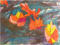 elementary art 1st grade wax resist with crayon and ink