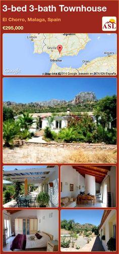 3-bed 3-bath Townhouse in El Chorro, Malaga, Spain ►€295,000 #PropertyForSaleInSpain