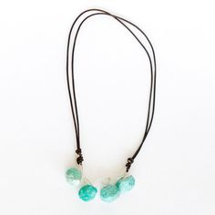 Faceted Amazonite Necklace now featured on Fab. $63