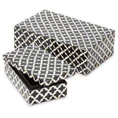 Black And White Decorative Boxes Large Arabesque Bone Box  Tangelo  Arabesque