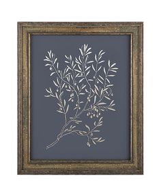 Olive Branch Wall Art. Olive Branch Print. Blue by ILKADesign
