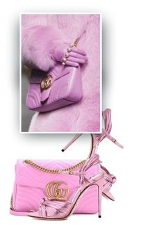 """Accessorize In Gucci💕"" by hollowpoint-smile ❤ liked on Polyvore featuring Pink, Heels, shoes, bag and gucci"