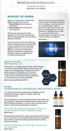The biology of aging #skinceuticals