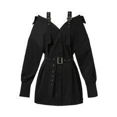 Vintage Hard Black Suspenders Dress Female Harajuku Gothic Korean Off Shoulder Sexy Shirt Dress Women Punk Style Dresses Kpop Fashion Outfits, Stage Outfits, Edgy Outfits, Cute Casual Outfits, Women's Fashion, Ladies Fashion, Classy Fashion, Fashion Stores, Japan Fashion