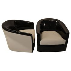 Milo Baughman Swivel Lounge Chairs   From a unique collection of antique and modern swivel chairs at https://www.1stdibs.com/furniture/seating/swivel-chairs/