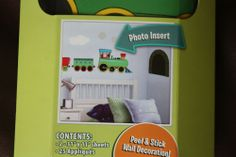 Motifs In A Minute Train Peel & Stick Wall Decals 25 Appliques With Photo Insert