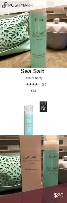 """Julep Sea Salt Texture Spray NWT for """"beach waves"""" Brand new Julep hair product, bought it online and then the same product came with my monthly Julep subscription box 😂 smells amazing, with a clean """"fresh"""" scent. Not sticky, lightweight formula. Retails $22. Will sell for $17 if you buy with another item in my closet 💕 Julep Accessories Hair Accessories"""