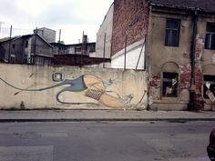 Street Art w KRK KResKi - Mural Mikołaja Rejsa, ul. Kącik, Podgórze