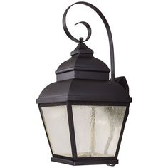 Mossoro Black 26.75-Inch High LED Outdoor Wall Mount