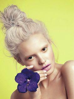 """""""Floral Essence"""" Paige Reifler by Stockton Johnson for ELLE Vietnam April 2014"""
