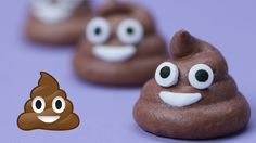 """""""Today I made Pile of Poo Emoji Chocolate Meringue Cookies! I really enjoy making nerdy themed goodies and decorating them. I'm not a pro, but I love baking a."""" (ive read it started out as ice cream. Birthday Treats, Party Treats, Chocolate Meringue Cookies, Emoji Cake, Poo Emoji Cupcakes, Little Presents, Unsweetened Cocoa, Food Art, Kids Meals"""