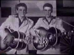 """The Everly Brothers: """"Bye Bye Love."""" Don Everly age Phil Everly age - 1957 - 50s Music, Music Love, Good Music, 50s Rock And Roll, Rock Roll, Bye Bye Love, Love Songs Lyrics, Music Songs, Thing 1"""