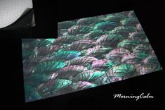 Donkey Ear Abalone Coated Enhanced Adhesive Veneer Sheet (Mother of Pearl MOP Shell Overlay Inlay Luthier Nacre)