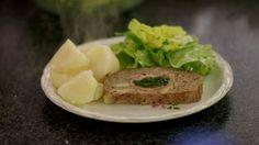 Eén - Dagelijkse kost - gehaktbrood met ham, spinazie en abdijkaas