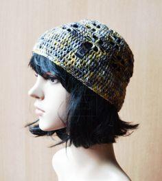 Häkelmütze Baumwolle #glitter #cotton #fashion #vegan #crochez #häkeln #handarbeit #hippie #boheme #style
