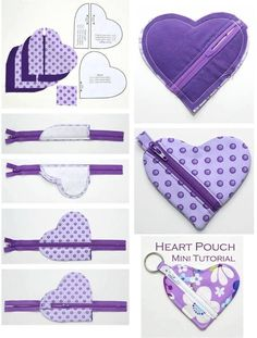 Trousse en coeur – Couture à Grenoble. The Effective Pictures We Offer You About sewing projects pillows A quality picture can tell you many things. Sewing Projects For Beginners, Easy Sewing Projects, Sewing Hacks, Sewing Crafts, Sewing To Sell, Love Sewing, Sewing For Kids, Diy Couture, Leftover Fabric