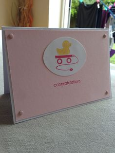 'New baby' Stampin Up / Embellished Events