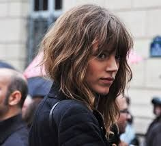 Image result for wavy hair with bangs