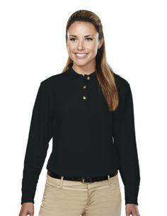 Women's Pique Long Sleeve Golf Shirt (60% Cotton/40% Polyester) Tri mountain 602