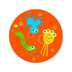 Bacteria Round Sticker
