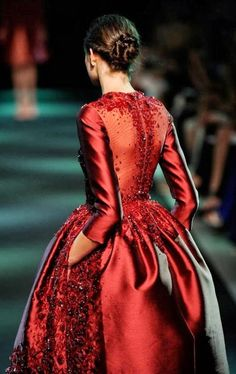 Georges Hobeika Fall 2013. What a gorgeous evening gown.