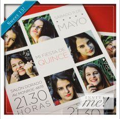 Mora hizo un book de fotos para darle un toque canchero a las invitaciones de su evento. hola@invita-me.com.ar