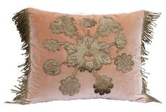 Metallic Applique  Velvet Pillow