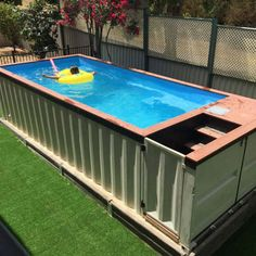 Over the last several years, shipping containers have become very popular in the world of architecture. Although there was once a time when these large met backyard ideas 20 Cool Shipping Container Swimming Pools Shipping Container Swimming Pool, Diy Swimming Pool, Swiming Pool, Diy Pool, Homemade Swimming Pools, Shipping Container Homes Cost, Portable Swimming Pools, Converted Shipping Containers, Swimming Pool Enclosures