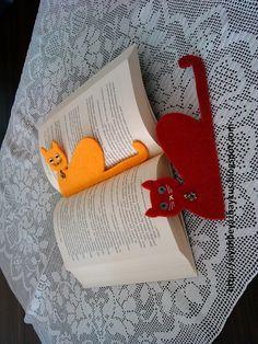 keçeden kedili kitap ayracı
