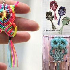 DIY Macrame Owls