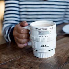 White Into Focus Camera Lens Mug