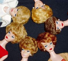 Barbie, Bubblecuts from 1961-1964 made to duplicate the popular hairstyle~ the Bouffant Fashion Icon of the 60's