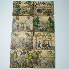 Rare Early 19th Century Puzzle Board Game French Territories Conquest of Algeria