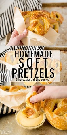 Homemade Soft Pretzels Are Both Delicious And Easy The Classic Tangy, Chewy Crust With The Fluffy Inside Is Exactly What This Recipe Will Provide. This Soft Pretzel Recipe Is Fast, Too It Takes Less Than 1 Hour From Start To Finish. Cooking With Karli Homemade Soft Pretzels, Pretzels Recipe, Appetizer Recipes, Snack Recipes, Appetizers, Fudge Recipes, Snacks, Baking Recipes, Kitchen Aid Recipes