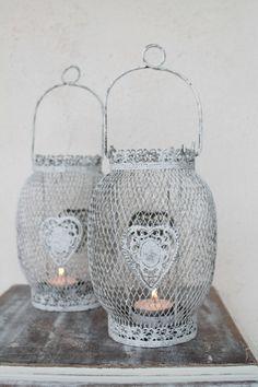Romantische lantaarn metaaldraad met hartjes - Aviale.nl