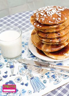 Placemat Delfts Blond, we love pancakes and maple syrup! By Blond-Amsterdam
