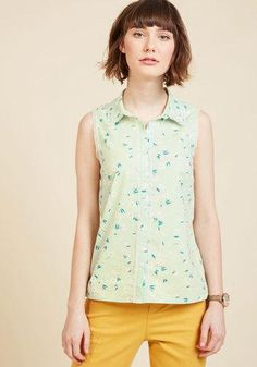 ModCloth - ModCloth Keep Up the Kindness Sleeveless Top in Mint in L - AdoreWe.com