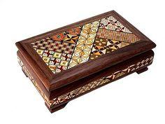 Japonese wood box yosegi
