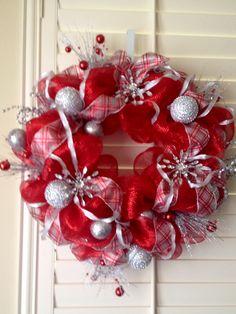 Winter Deco Mesh Wreath