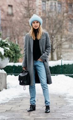 Street Style at Stockholm Fashion Week Fall-Winter Fall Winter 2017, Winter Mode, Autumn Winter Fashion, Winter Wear, Fall 2018, Gala Gonzalez, Fashion Weeks, Winter Coat Outfits, Winter Coats
