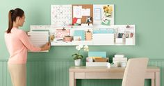 Take organization to new heights with Wall Manager from Martha Stewart Home Office  LOOK HOW BEAUTIFUL THAT IS