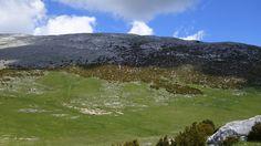 El vallecito herboso antes de encarar el ascenso final