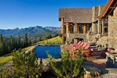 Hegyek és csendes vizek - fa, kő és üveg - ház Montana-ban - Quiet Waters Residence, Locati Architects
