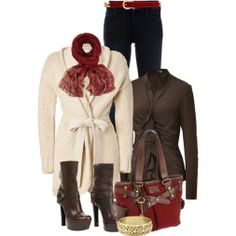 Winter outfit. #fashion, #boots, #clothing, #outfit