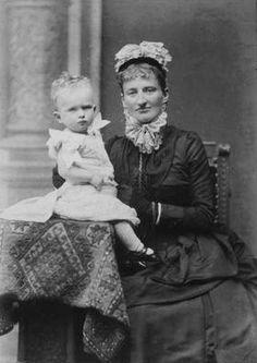 Prince Heinrich of Bavaria with his mother Princess Arnulf of Bavaria