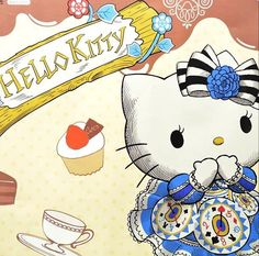 HK Alice in wonderland. Sanrio Hello Kitty, Hello Kitty Vans, Sanrio Wallpaper, Hello Kitty Wallpaper, Wonderland Party, Alice In Wonderland, Hello Kitty Imagenes, Painting The Roses Red, Hello Kitty Pictures