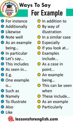 Ways To Say For Example, English Phrases Examples For instance Additionally Likewise Note well As an example b English Phrases, Learn English Grammar, Learn English Words, English Language Learning, Teaching English, Teaching Spanish, English Speaking Skills, Spanish Grammar, English Study